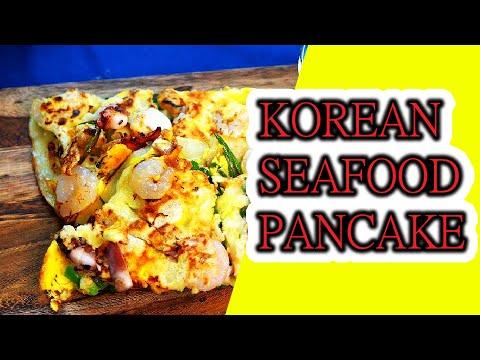 [ENG Korean STREET FOOD ]Cooking Korean Pancake with Seafood At home-ASMR