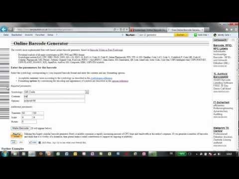 Barcodes kostenlos erstellen - mit dem Online Barcode Generator from YouTube · Duration:  1 minutes 41 seconds
