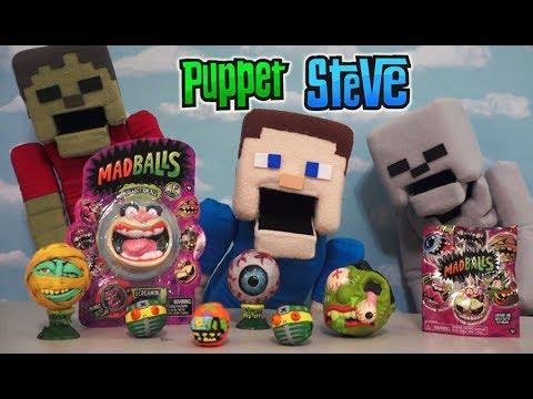 Madballs toys series 1 blind bag unboxing just play american greetings baseball puppet Steve