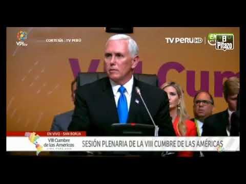 """Mike Pence: """"Estados Unidos no descansará hasta que Venezuela recupere su democracia"""""""