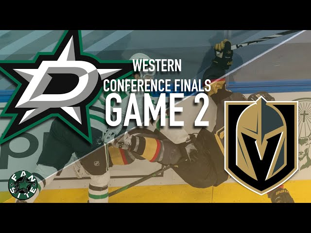 Dallas Stars vs Vegas Golden Knights | Game 2, Western Conference Finals | 2020 Stanley Cup Playoffs