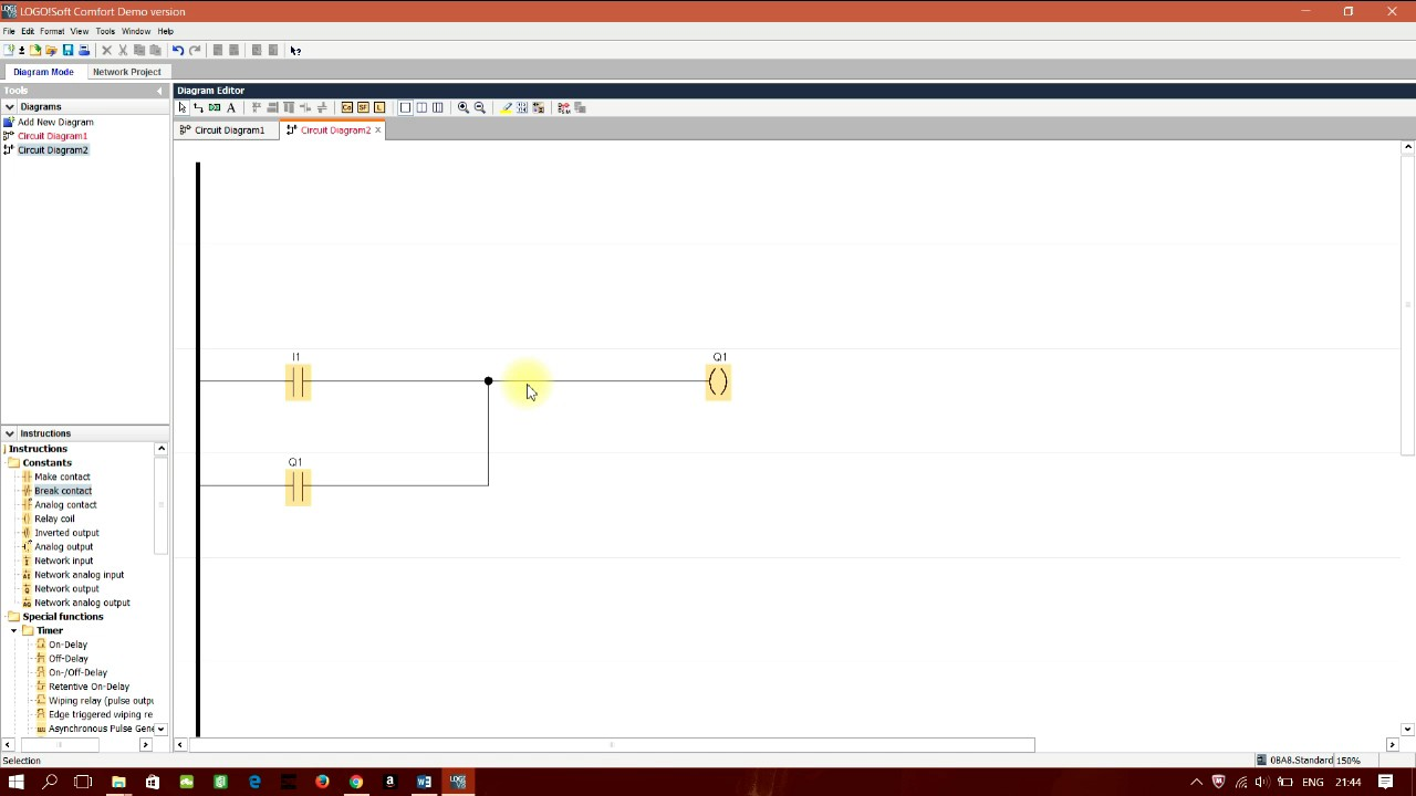 medium resolution of automation tutorial how to design a simple latch switch in logo software jpg 1280x720 simple latch