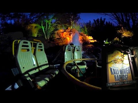 Kali River Rapids Night Experience at Disney's Animal Kingdom Theme Park!