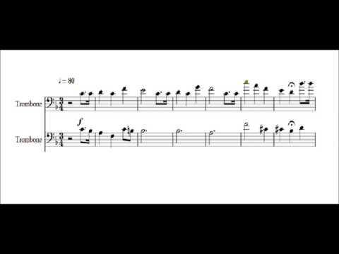 Happy Birthday for Trombone Quartet