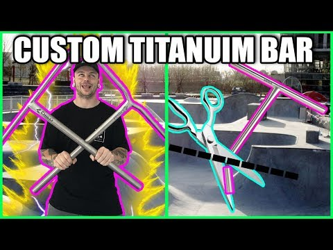 BEST WAY TO CUT TITANIUM SCOOTER BARS *2019*