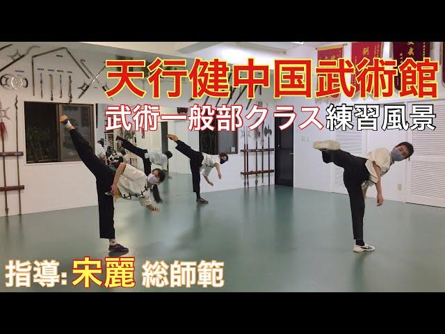 宋麗先生指導 天行健中国武術館 武術一般部クラス 練習風景