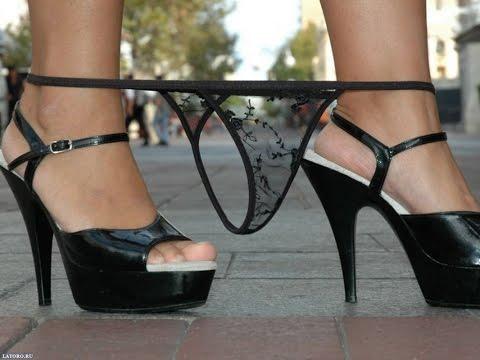 У девушки падают трусы! # Girl dropped her panties!