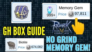 How to get lots of Glast Heim Chests and NO GRIND MEMORY GEMS! :)