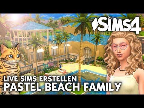 LIVE Sims Familie für das Pastel Beach Haus erstellen (CAS)