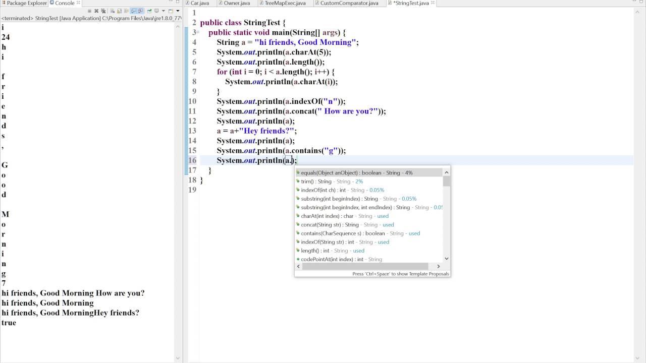 Java String Methods Explained | Java9s.com - YouTube