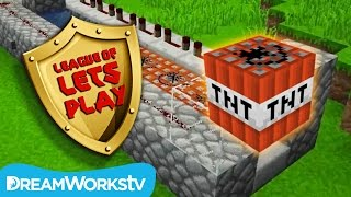 How to Build a TNT Cannon in Minecraft with Fin & Sky from FinsGraphics | LEAGUE OF LET'S PLAY