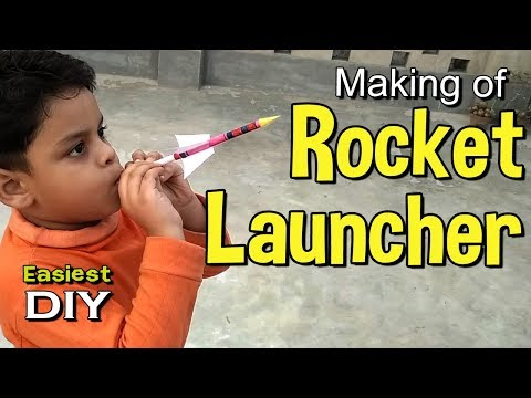 Making of Rocket Launcher | Paper Rocket | Amazing toy making for kids – almost 5 minute crafts
