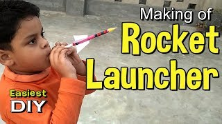 Making of Rocket Launcher | Paper Rocket | Amazing toy making for kids - almost 5 minute crafts