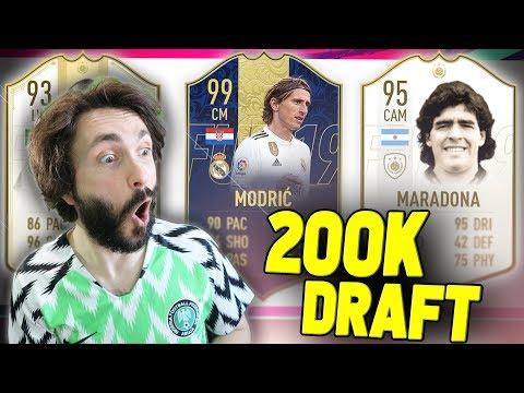 BRUTALAN DRAFT ZA 200 000 PRETPLATNIKA!! FIFA 19