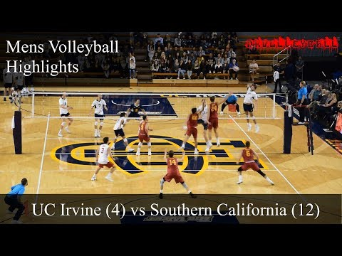 UCI vs USC  Men's volleyball HIGHLIGHTS 1/12/18