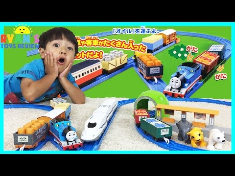 THOMAS AND FRIENDS Toy Trains for kids with Tomy Takara Playset
