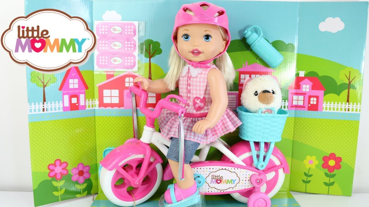 aadac6b063 BABY DOLL NOVA BONECA LITTLE MOMMY MEU PRIMEIRO PASSEIO DE BICICLETA ...