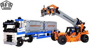 Lego Technic 42062 | Container Transport | Container Yard | Lego Speed Build Review | Modell A