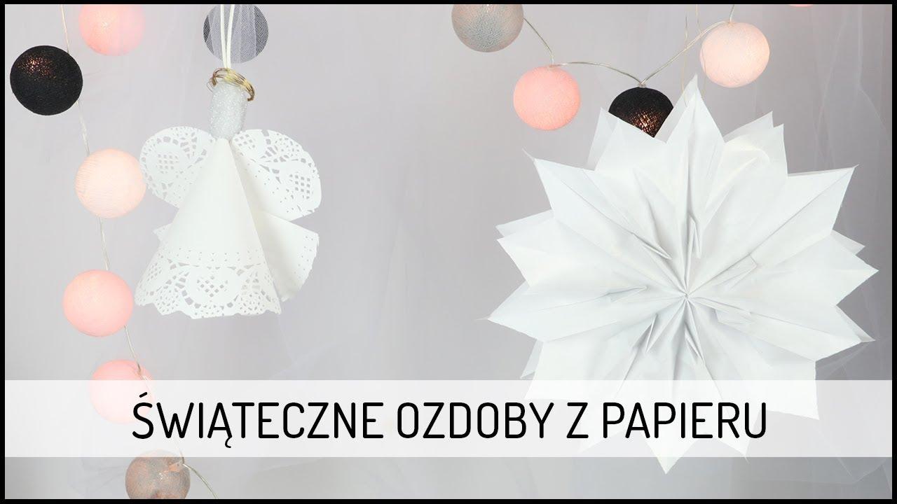 Świąteczne Ozdoby z Papieru | DIY DOMODI TV
