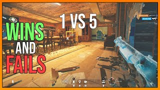 Compilation of Clutches | Wins and Fails - Rainbow Six Siege Funny Moments