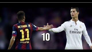 Neymar jr vs cristiano ronaldo 2015   top 10 goals hd