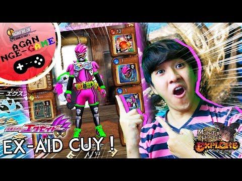 AKHIRNYA ! DAPET FULL SKIN KAMEN RIDER EX-AID GAN !  [Monster Hunter Explore] Part #2