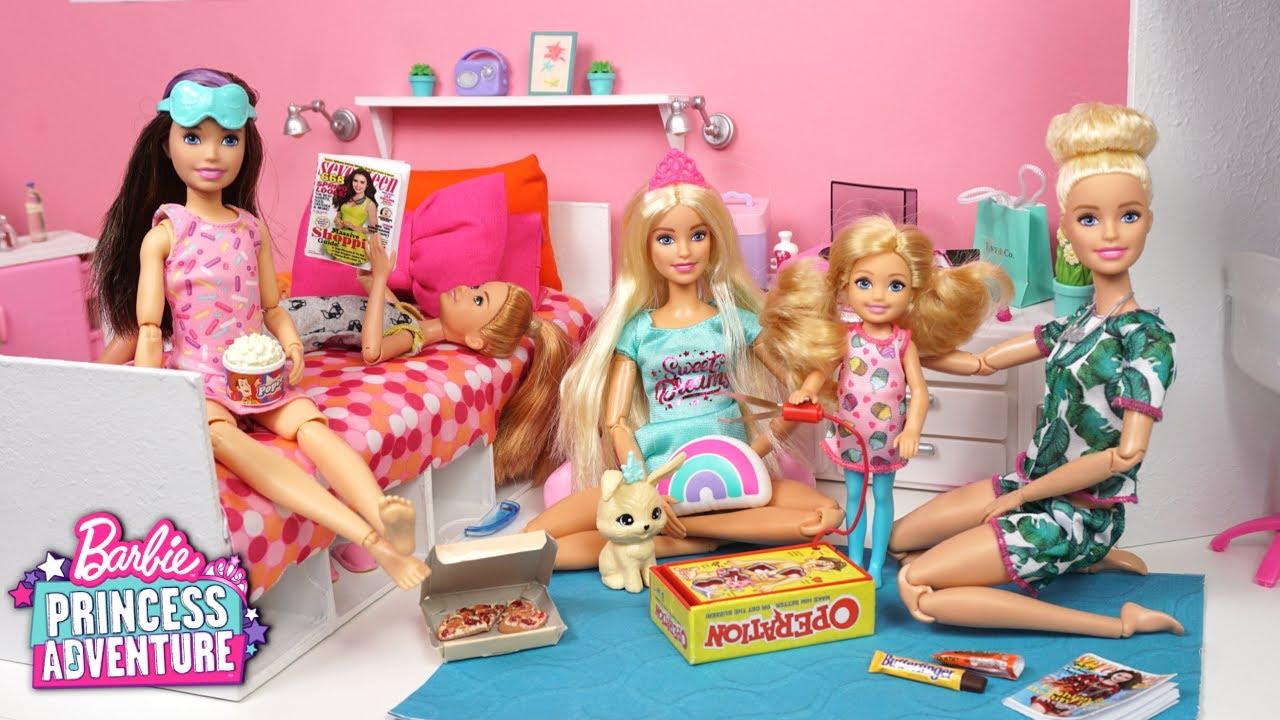 Aventuras de Princesas Pijamada Divertida con Muñecas Barbie  - Los Juguetes de Titi