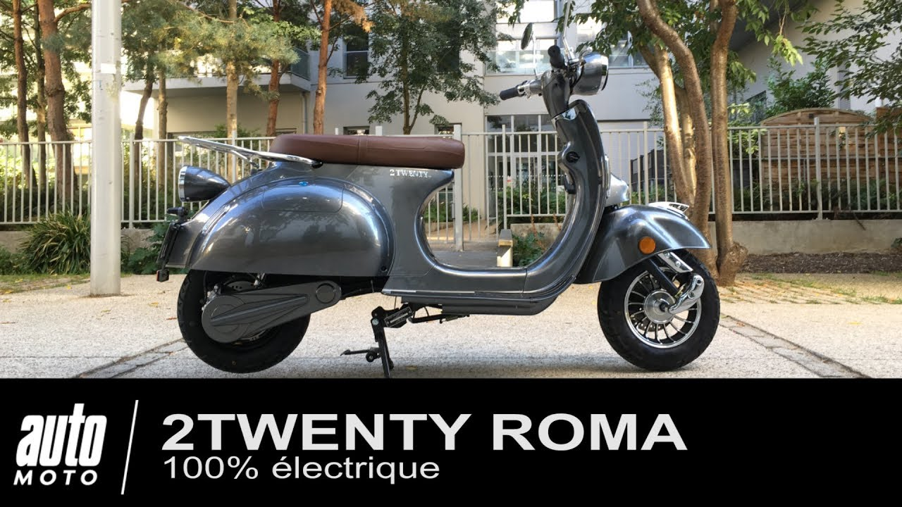 scooter lectrique fa on vespa 2twenty roma essai pov auto youtube. Black Bedroom Furniture Sets. Home Design Ideas