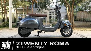 """Scooter électrique façon """"Vespa"""" 2TWENTY ROMA Essai POV Auto-Moto.com"""