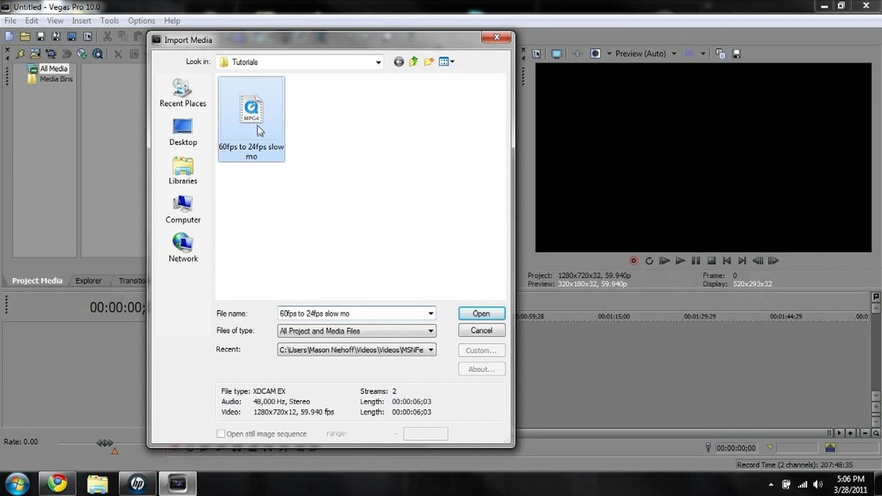 Coverting 60fps to 24fps slowmotion...SONY VEGAS - YouTube