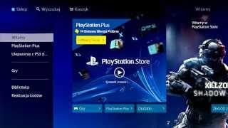 PlayStation 4 - prezentacja sklepu PlayStation Store (PS Store PL na PS4)