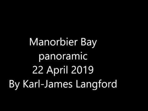 Manorbier Bay, West Wales By Karl-James Langford