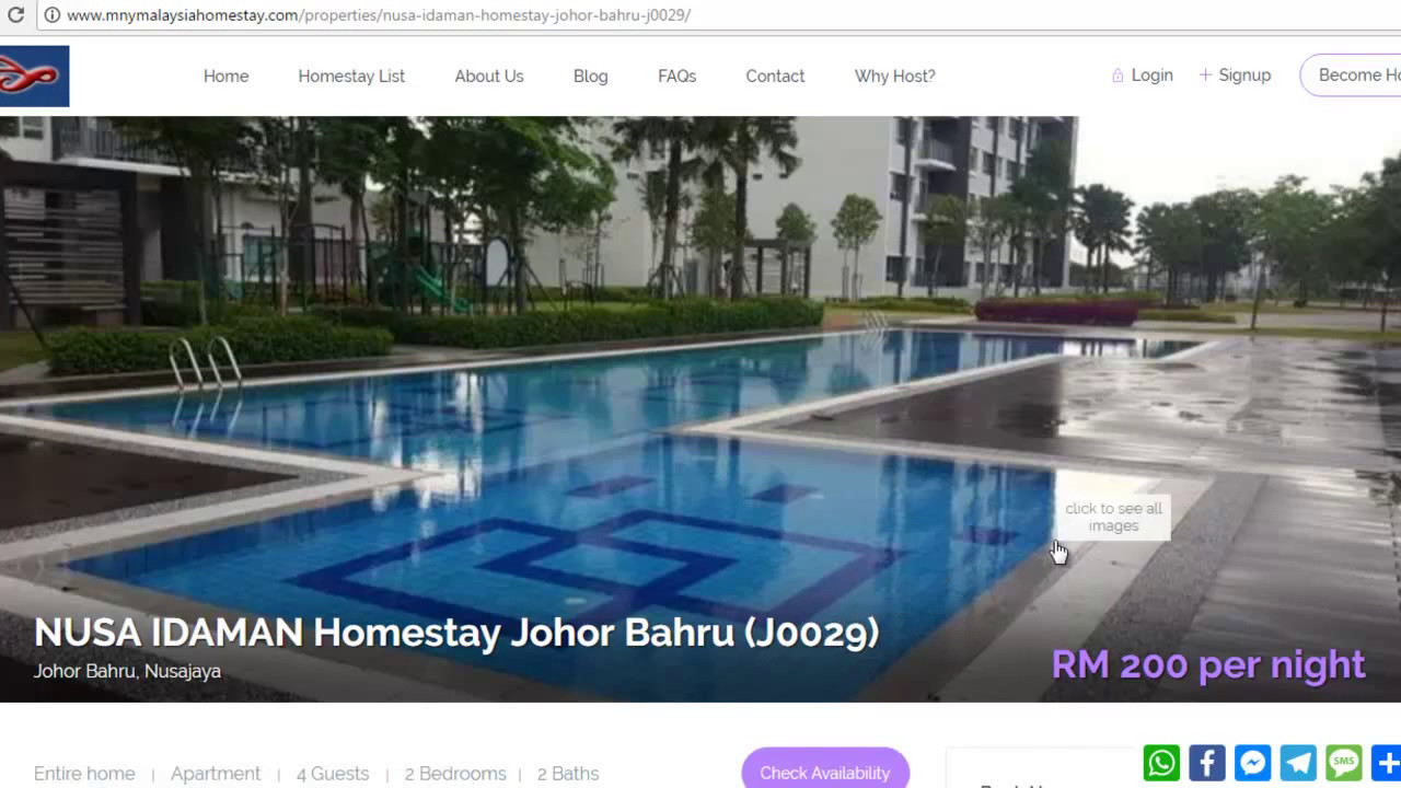 Johor Bahru Homestays Homestays In Johor Bahru Malaysia Youtube