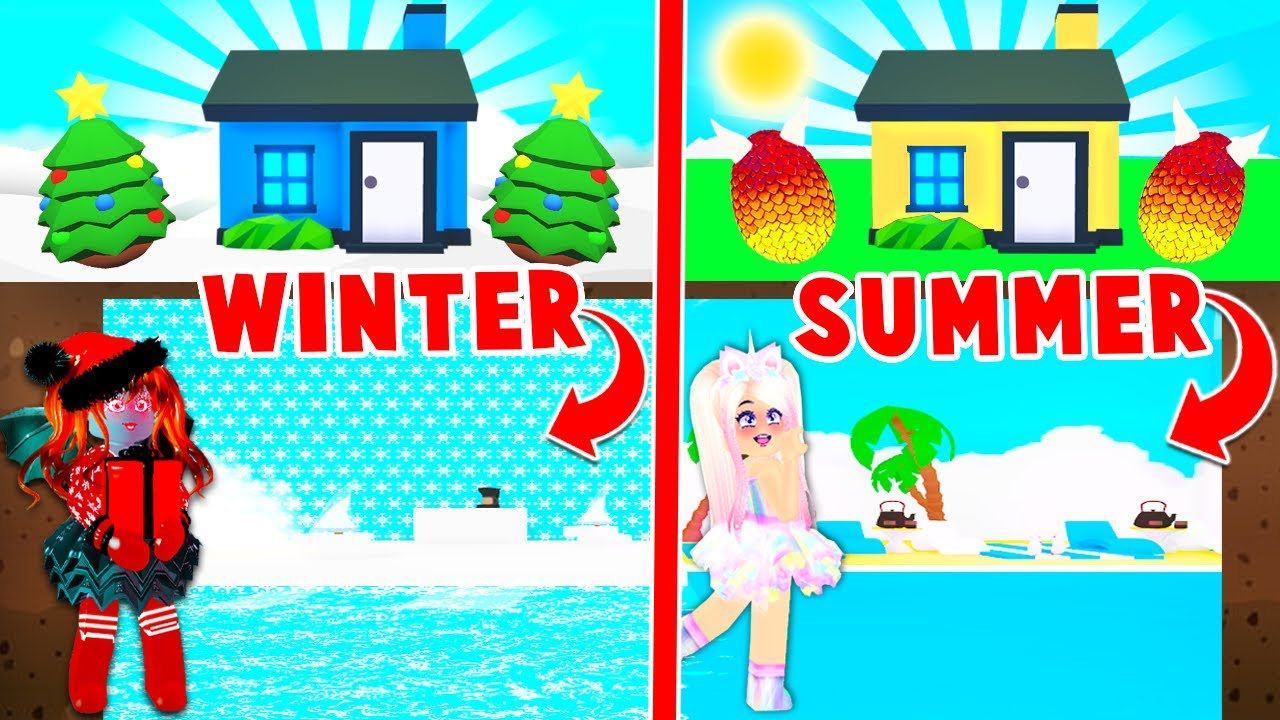 Download Winter Vs Summer Build Challenge With My BEST FRIEND In Adopt Me! (Roblox)