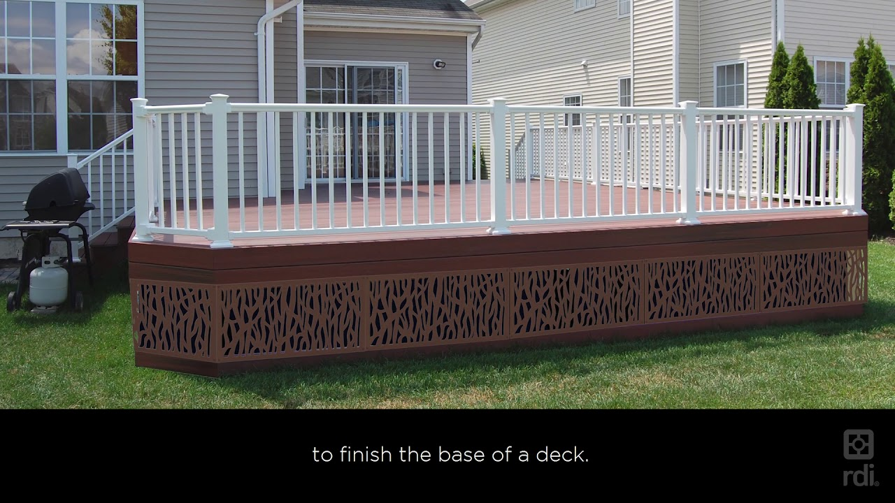 Decorative Metal Deck Railing Panels  from i.ytimg.com