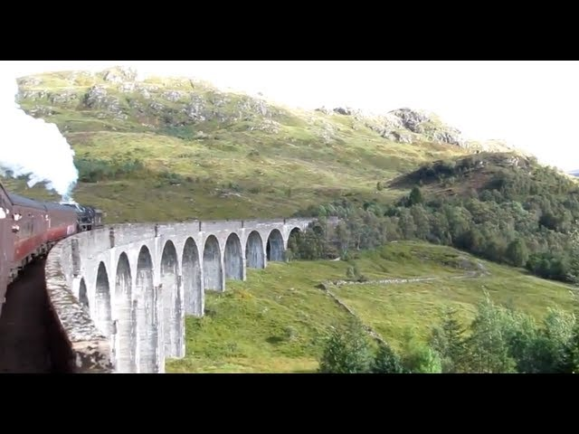 The Jacobite Steam Train Crossing The Glenfinnan Viaduct The Hogwarts Express Harry Potter Train