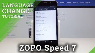 How to Change Language in Zopo Speed 7 - Country & Region Settings