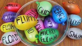 Mixing All My Slimes with Balloons! Balloon Slime Smoothie! The Most Unsatisfying Slime Fails!