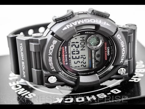 Casio GSHOCK FROGMAN GWF1000-1 REVIEW | How To Set Time | LIGHT DISPLAY