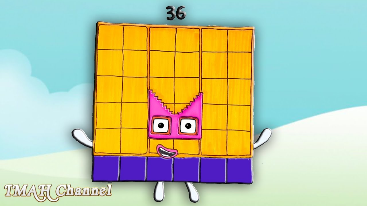 Numberblocks Square New Number 36 Thirty Six
