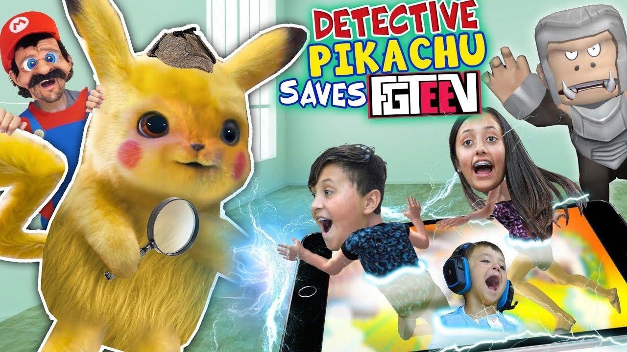 Detective Pikachu saves FGTEEV (Ape Chase Gameplay  Skit)