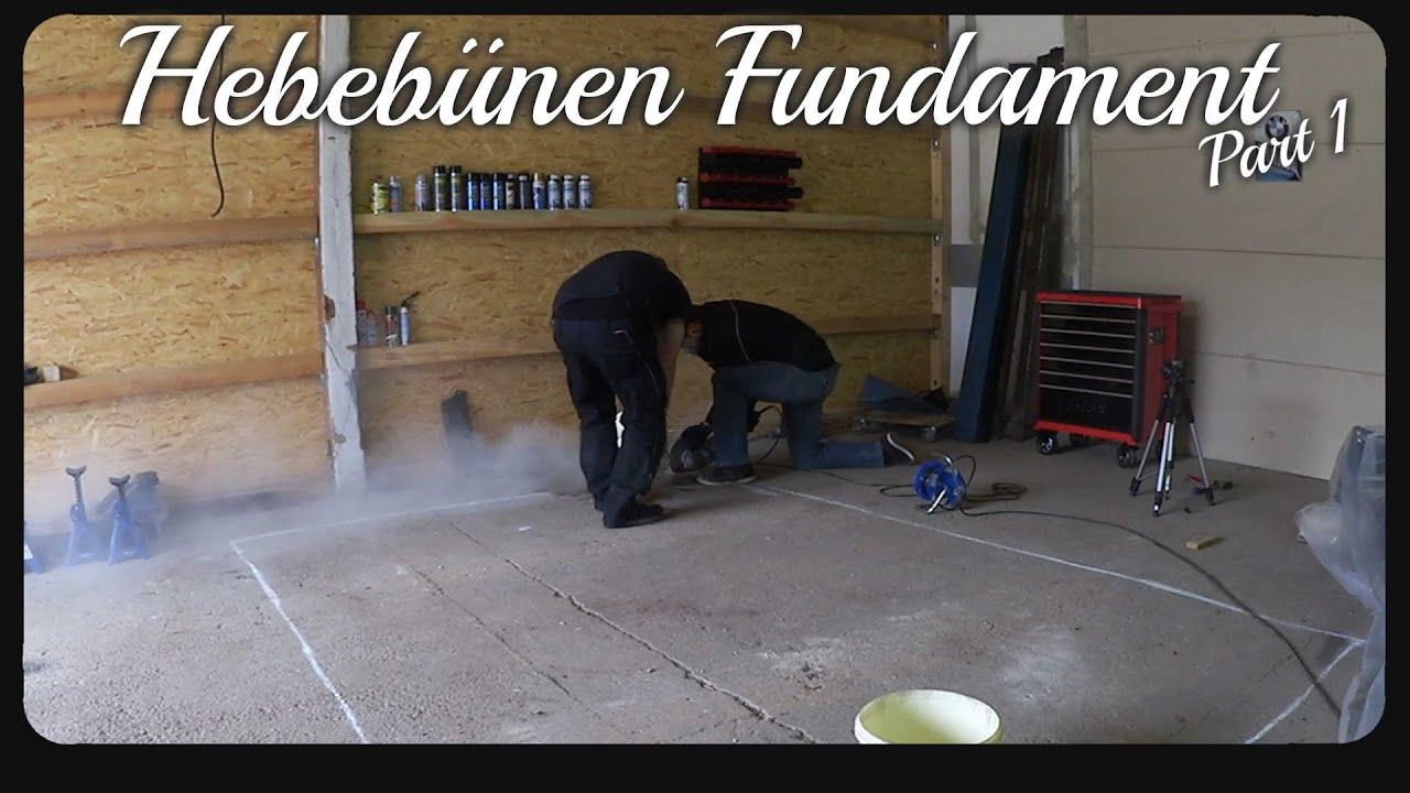 Relativ Hebebühnen Fundament part 1 - YouTube CH24