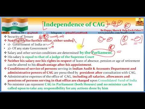 71 Everything about CAG  Comptroller & Auditor General of India Polity  Laxmikanth  By VeeR