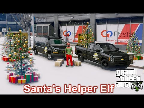 ANOTHER DAY AT WORK 34 GTA 5 REAL LIFE MOD SANTA'S HELPER ELF DELIVERING LAST MINUTE CHRISTMAS GIFTS