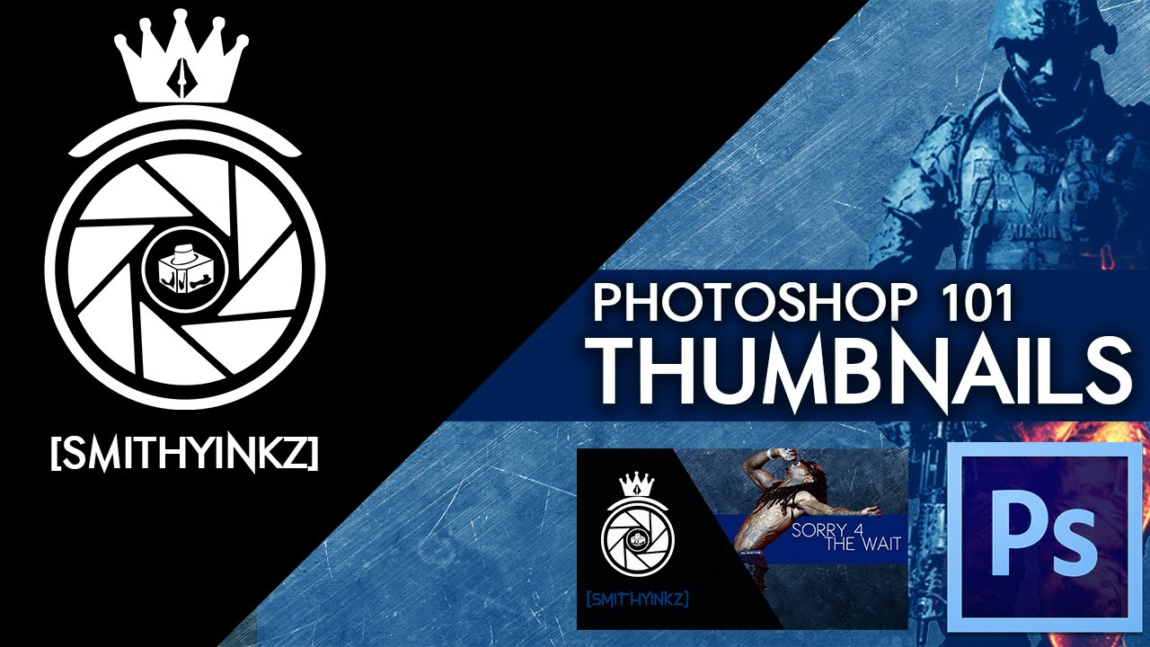 how to make a youtube thumbnail in photoshop