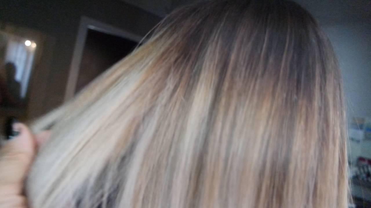 Blond froid Ombré \u0026 olaplex