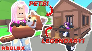 PET UPDATE & LEGENDARY TRAVELING HOUSE! / Roblox: Adopt Me