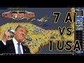 Red Alert 2 - Pattern of Islands - 7 Brutals vs 1 USA