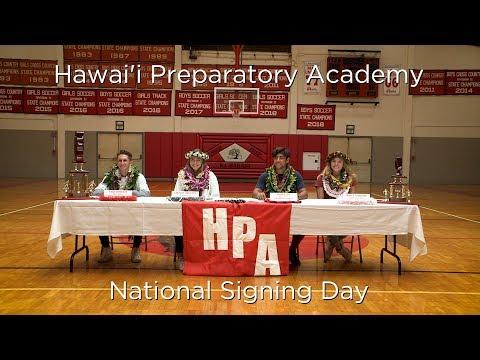 Hawai'i Preparatory Academy - National Signing Day 2018