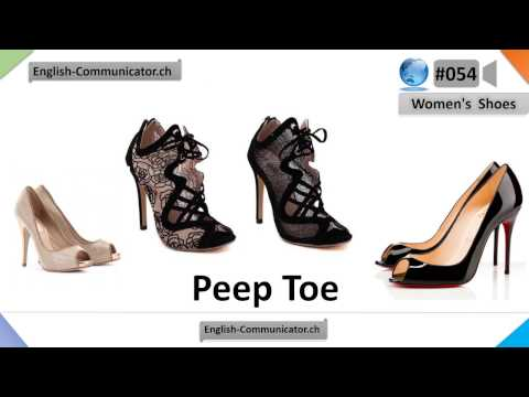 #055 Visual English Language Learning Practical Vocabulary Women's ShoesPart 1